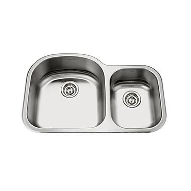 KRUGER GPD321L Pico-Sl 70/30 Bowl Kitchen Sink, 19 Gallon Capacity