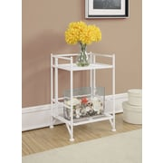 Convenience Concepts Designs2Go Media Towers 2 Tier Folding Metal Shelf White Finish (8020W)