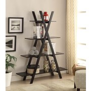 """Convenience Concepts Oxford Collection 4 Tiers 59"""" Tall """"A"""" Frame Black Finish (203060)"""