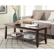 Convenience Concepts Inc. American Heritage Coffee Table w/Shelf Espresso Finish (7104088-ES)