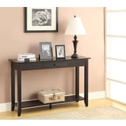 Convenience Concepts Inc. American Heritage Console Table w/Drawer Black Finish (7103081-BL)