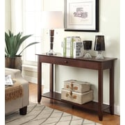Convenience Concepts Inc. American Heritage Console Table with Drawer Espresso Finish (7104099-ES)