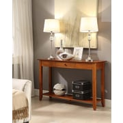 Convenience Concepts Inc. American Heritage Console Table with Drawer Cherry Finish (7104099CH)