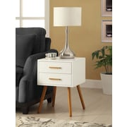 Convenience Concepts Olso 2 Drawer Wood End Table, White, Each (203522)