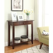 Convenience Concepts Inc. American Heritage Hall Table w/Drawer and Shelf, Espresso (8013081-ES)