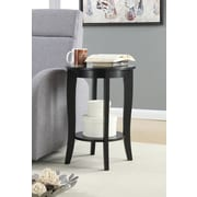 Convenience Concepts Inc. American Heritage Round Table Round Black Finish (7106259BL)