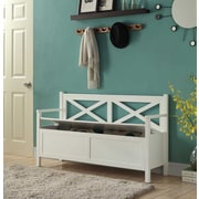 Convenience Concepts Oxford Storage Bench/Oxford Collection MDF,White Finish (203600W)