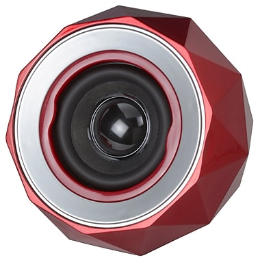 Digital Treasures Lyrix Power Bal Bluetooth Speaker, Red, (08944-PG)