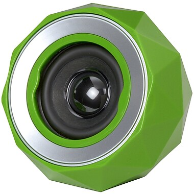 Digital Treasures Lyrix PowerBall Bluetooth Speaker, Green, (08946-PG)