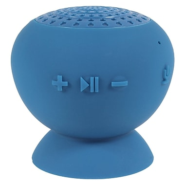 Digital Treasures – Haut-parleur Bluetooth Lyrix Jive résistant à l'eau, bleu, (09011-PG)