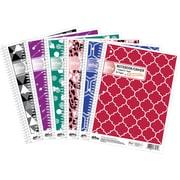 "Hilroy Core+ Fashion Notebook, 10-1/2"" x 8"", 92 Pages, Assorted"