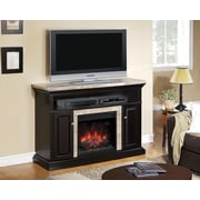 ClassicFlame Brighton TV Stand for TVs up to 60 Inch, Coffee Black  (75768)