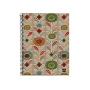 "Miquelrius Recycled Flowers 4-subject Notebook, College Ruled, 8.5"" x 11"" (49877)"