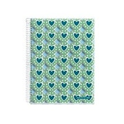 """Miquelrius Heart Badges 4-subject Notebook, College Ruled, 8.5"""" x 11"""" (49882)"""
