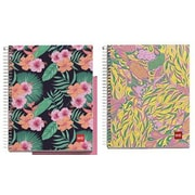 "Miquelrius Tropic & Petals 4-subject Notebooks, College Ruled, 6.5"" x 8"", 2/Pack (49891)"