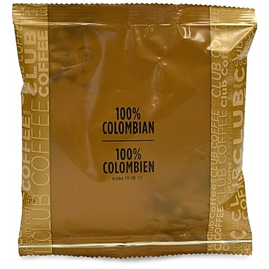 Club Coffee 100% Colombian In-Room Coffee, 0.7 oz., 100/Box
