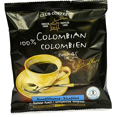 Club Coffee 100% Colombian In-room Coffees, 0.7 oz., 10/Box