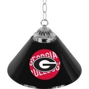 University of Georgia 14 Inch Single Shade Bar Lamp - Wordmark (GA1200-WM)