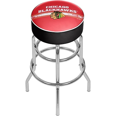 NHL Chrome Bar Stool with Swivel - Chicago Blackhawks (NHL1000-CBH2) 2211775