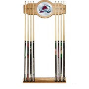 NHL Cue Rack with Mirror - Colorado Avalanche (NHL6000-CA2)