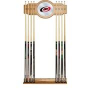 NHL Cue Rack with Mirror - Carolina Hurricanes (NHL6000-CH2)