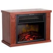 """Northwest 13"""" Portable Mini Electric Fireplace Heater - Wood Finish (80-EF480-W)"""