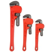 Stalwart 3 Piece Heavy Duty Pipe Wrench Set with Storage Pouch (M550026)