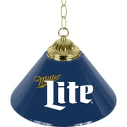 Miller Lite Retro Logo Single Shade Brass Bar Lamp - 14 inch (ML1200-R)