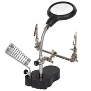 Stalwart 2 LED 3.5x Helping Hand Magnifier with Alligator Clips (M550005)