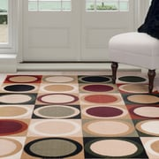 "Lavish Home Contemporary Circles Area Rug - Multi-Color - 3'3""x5' (62-5615M-335)"