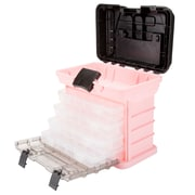 Stalwart Parts & Crafts Rack Style Tool Box with 4 Organizers - Pink (75-STO3183)