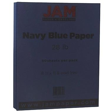 JAM Paper® Matte Paper, 8.5 x 11, 28lb Navy Blue, 50/pack (156550)
