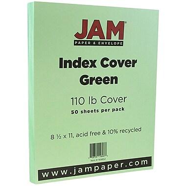 JAM Paper® Vellum Bristol Index Cardstock, 8.5 x 11, 110lb Green, 50/pack (169852)
