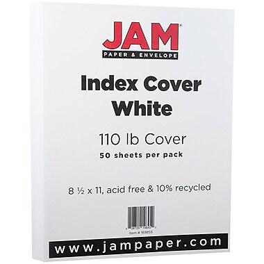 JAM Paper® Vellum Bristol Index Cardstock, 8.5 x 11, 110lb White, 50/pack (169855)