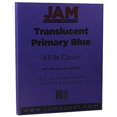 JAM Paper® Translucent Vellum Cardstock, 8.5 x 11, 43lb Purple Translucent Vellum, 50/pack (1592224)