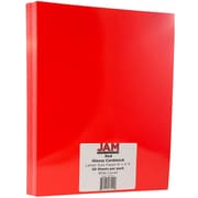 JAM Paper® Glossy Cardstock 1-sided, 8.5 x 11, 80lb Red, 50/pack (1683741)