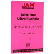 JAM Paper Legal Colored Paper, Ultra Fuchsia Brite Hue, 100/Pack