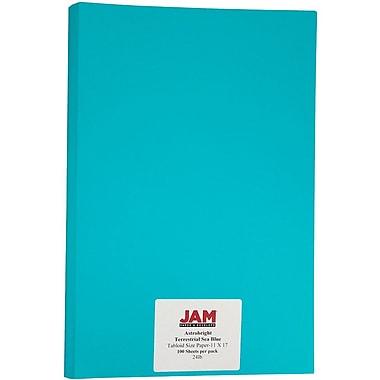 JAM Paper – Papier recyclé Brite Hue 11 x 17 po, bleu océan Astrobright, 100 feuilles/paquet