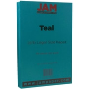 JAM Paper® Matte Legal Paper, 8.5 x 14, 28lb Teal Blue, 50/pack (16729441)