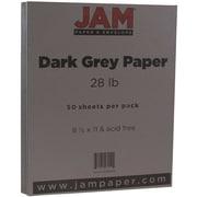 "JAM Paper® 28 lb. 8 1/2"" x 11"" Paper, Gray/Grey, 50 Sheets/Pack"