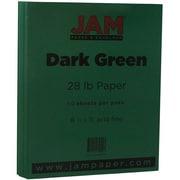 JAM Paper® Matte Paper, 8.5 x 11, 28lb Dark Green, 50/pack (64429278)