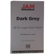 JAM Paper® Matte Legal Paper, 8.5 x 14, 28lb Dark Grey, 50/pack (64429530)