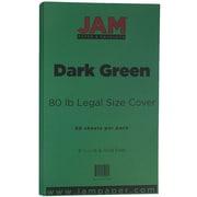 JAM Paper® Matte Legal Cardstock, 8.5 x 14, 80lb Dark Green, 50/pack (64429556)