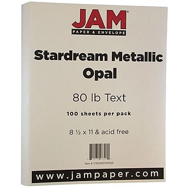JAM Paper® Metallic Paper, 8.5 x 11, 80lb Stardream Opal, 100/Pack (173SD8511OP120)