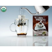 FUERTE®,Pronto®,Forte™, Organic Arabica Coffee, Single Serve Pour Over, French Roast
