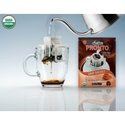 FUERTE®, Pronto®, Caramoso™, Coffee Drip Bag, Organic Arabica Coffee, Natural Caramel Flavor, 18/Pack, (PCC-01)