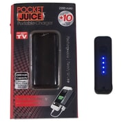 Tzumi Pocket Juice Rechargeable Power Bank, 2200 mAh, Black (2667ST)