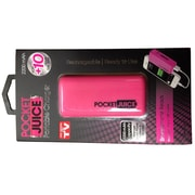 Tzumi Pocket Juice Rechargeable Power Bank, 2200 mAh, Pink (2666ST)