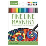 Crayola® Fine Line Marker, Assorted, 12/Pack (58-7713)