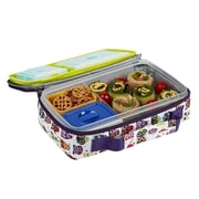 Fit & Fresh® White with Owls Design 24 oz. Bento Lunch Kit with Insulated Carry Bag (841K3FFMX)
